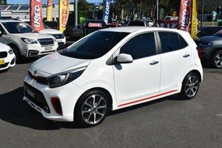 2018 Kia Picanto JA MY18 GT-Line White 4 Speed Automatic Hatchback.
