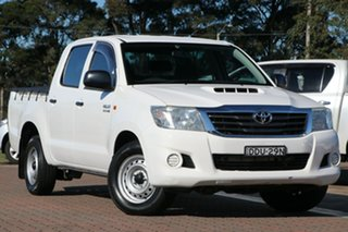 2013 Toyota Hilux KUN16R MY12 SR Double Cab 4x2 White 5 Speed Manual Utility.
