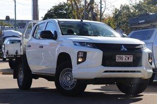 2019 Mitsubishi Triton MR MY19 GLX Double Cab ADAS White 6 Speed Sports Automatic Utility.