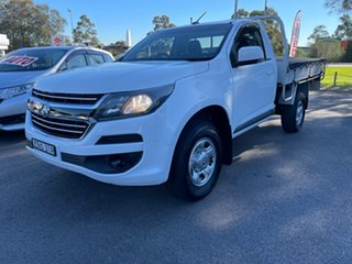2017 Holden Colorado RG MY17 LS White 6 Speed Manual Cab Chassis.