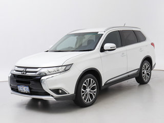 2015 Mitsubishi Outlander ZK MY16 LS (4x4) White Continuous Variable Wagon.
