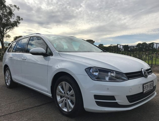 Used Volkswagen Golf VII MY14 90TSI DSG Comfortline Enfield, 2014 Volkswagen Golf VII MY14 90TSI DSG Comfortline White 7 Speed Sports Automatic Dual Clutch Wagon