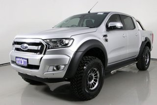 2018 Ford Ranger PX MkII MY18 XLT 3.2 (4x4) Silver 6 Speed Manual Double Cab Pick Up.