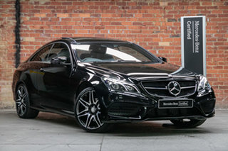 2015 Mercedes-Benz E-Class C207 806MY E250 7G-Tronic + Black 7 Speed Sports Automatic Coupe.