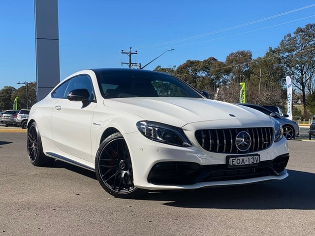 Used Mercedes-Benz C-Class Goulburn, 2021 Mercedes-Benz C-Class C63 AMG - S Polar White Sports Automatic Coupe