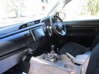 2016 Toyota Hilux GUN126R SR (4x4) Glacier White 6 Speed Manual Dual Cab Chassis
