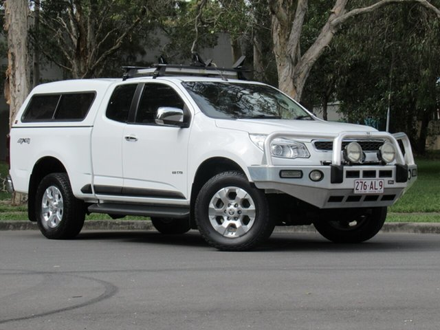 Used Holden Colorado RG MY14 LTZ Space Cab, 2013 Holden Colorado RG MY14 LTZ Space Cab White 6 Speed Sports Automatic Utility