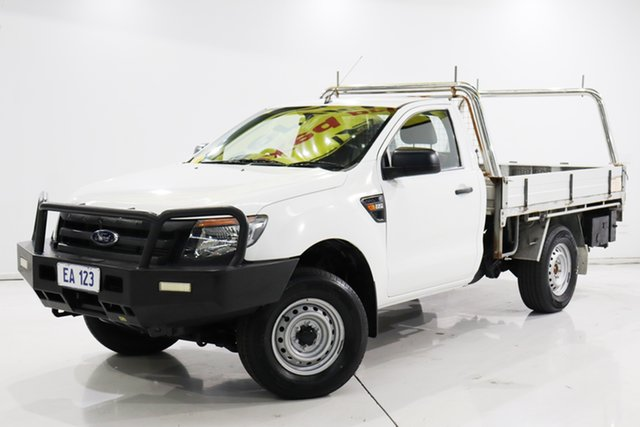 Used Ford Ranger PX XL Hi-Rider Brooklyn, 2014 Ford Ranger PX XL Hi-Rider White 6 Speed Sports Automatic Cab Chassis