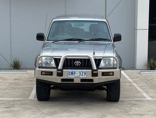 2000 Toyota Landcruiser Prado VZJ95R Kimberley GXL Silver 4 Speed Automatic Wagon.