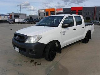 2009 Toyota Hilux TGN16R MY09 Workmate 4x2 White 5 Speed Manual Utility