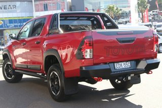 2018 Toyota Hilux GUN126R Rugged X Double Cab Red 6 Speed Sports Automatic Utility