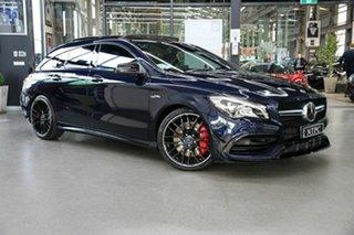2017 Mercedes-Benz CLA-Class X117 808MY CLA45 AMG Shooting Brake SPEEDSHIFT DCT 4MATIC Blue 7 Speed.