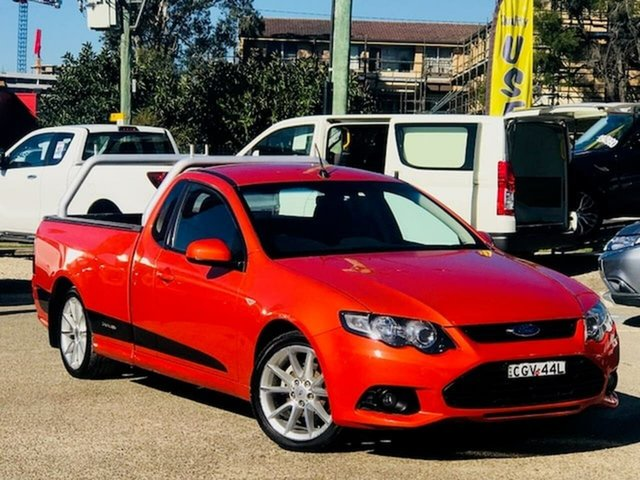 Used Ford Falcon FG MkII XR6 Ute Super Cab EcoLPi Liverpool, 2013 Ford Falcon FG MkII XR6 Ute Super Cab EcoLPi Orange 6 Speed Sports Automatic Utility