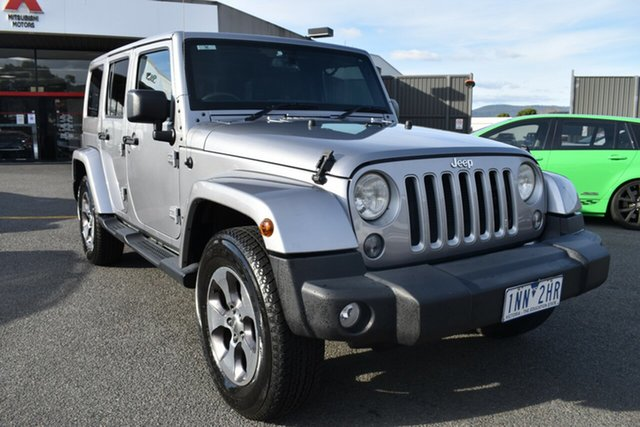 Used Jeep Wrangler JL MY18 Unlimited Overland Wantirna South, 2018 Jeep Wrangler JL MY18 Unlimited Overland Billet Silver 8 Speed Automatic Hardtop