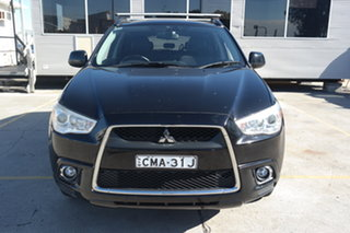 2011 Mitsubishi ASX XA MY11 Aspire Black 6 Speed Constant Variable Wagon.