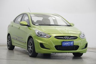 2012 Hyundai Accent RB Active Green 4 Speed Sports Automatic Sedan