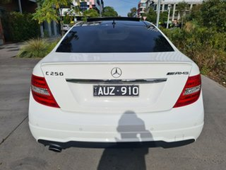 2015 Mercedes-Benz C-Class C204 C250 7G-Tronic + Avantgarde White 7 Speed Sports Automatic Coupe
