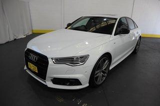 2017 Audi A6 4G MY18 Black Edition S Tronic White 7 Speed Sports Automatic Dual Clutch Sedan