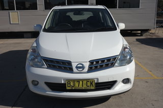 2010 Nissan Tiida C11 MY07 TI White 4 Speed Automatic Sedan.