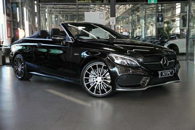 Used Mercedes-Benz C-Class A205 808MY C43 AMG 9G-Tronic 4MATIC North Melbourne, 2018 Mercedes-Benz C-Class A205 808MY C43 AMG 9G-Tronic 4MATIC Black 9 Speed Sports Automatic