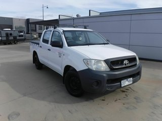 2009 Toyota Hilux TGN16R MY09 Workmate 4x2 White 5 Speed Manual Utility.
