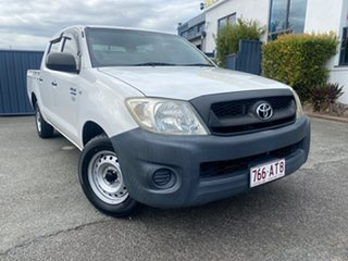 2010 Toyota Hilux TGN16R MY10 Workmate 4x2 White 5 Speed Manual Utility.