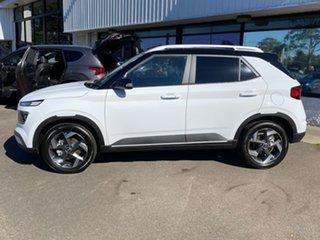 2021 Hyundai Venue QX.V3 MY21 Elite Polar White & Black Roof 6 Speed Automatic Wagon.
