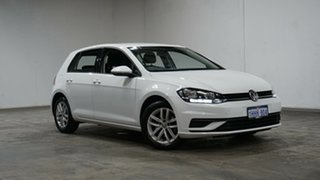 2017 Volkswagen Golf 7.5 MY18 110TSI DSG Pure White 7 Speed Sports Automatic Dual Clutch Hatchback.