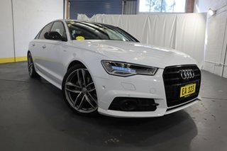 2017 Audi A6 4G MY18 Black Edition S Tronic White 7 Speed Sports Automatic Dual Clutch Sedan.