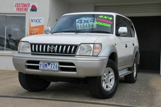 1999 Toyota Landcruiser Prado VZJ95R Snowy (4x4) White 4 Speed Automatic 4x4 Wagon.