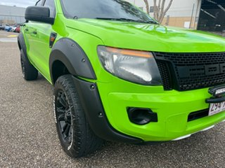2014 Ford Ranger PX XL 2.2 (4x4) Green 6 Speed Automatic Crew Cab Utility.