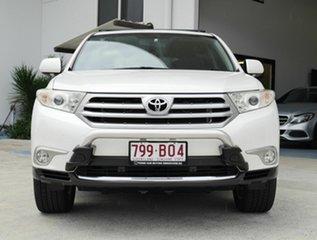 2013 Toyota Kluger GSU45R MY12 Altitude AWD White 5 Speed Automatic Wagon.
