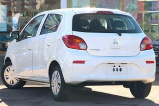 2019 Mitsubishi Mirage LA MY20 ES White Continuous Variable Hatchback.