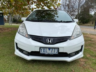 2012 Honda Jazz GE Vibe-S White Automatic Hatchback.