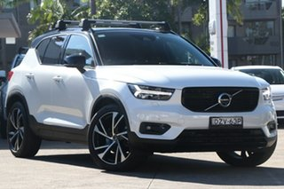 2019 Volvo XC40 536 MY20 T5 R-Design (AWD) Crystal White 8 Speed Automatic Wagon.