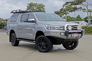 2015 Toyota Hilux GUN126R SR5 Double Cab Silver Sky 6 Speed Sports Automatic Utility.