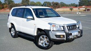 2003 Toyota Landcruiser Prado KZJ120R GXL White 4 Speed Automatic Wagon.