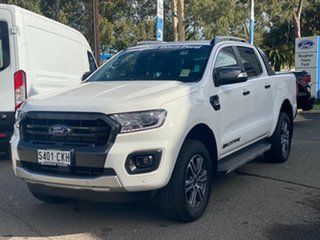 2021 Ford Ranger PX MkIII 2021.25MY Wildtrak Arctic White 6 Speed Sports Automatic.