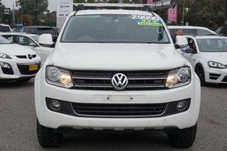 2014 Volkswagen Amarok 2H MY14 TDI400 4Mot Highline White 6 Speed Manual Utility.