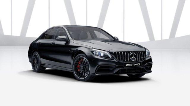 New Mercedes-Benz C-Class W205 801MY C63 AMG SPEEDSHIFT MCT S Mulgrave, 2021 Mercedes-Benz C-Class W205 801MY C63 AMG SPEEDSHIFT MCT S Obsidian Black 9 Speed