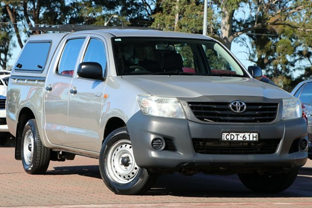 Pre-Owned Toyota Hilux TGN16R MY12 Workmate Double Cab 4x2 Warwick Farm, 2011 Toyota Hilux TGN16R MY12 Workmate Double Cab 4x2 Silver 4 Speed Automatic Utility
