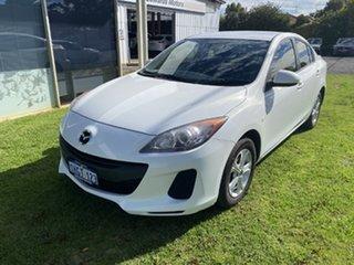 2013 Mazda 3 BL MY13 Neo White 5 Speed Automatic Sedan.