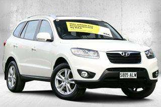 2011 Hyundai Santa Fe CM MY11 Highlander Vanilla White 6 Speed Sports Automatic Wagon.