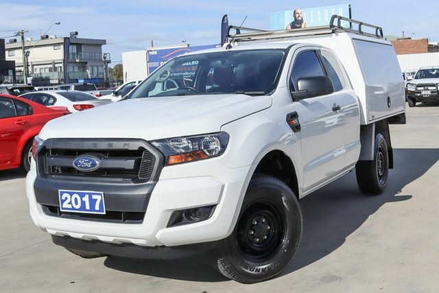 Used Ford Ranger PX MkII XL Hi-Rider Coburg North, 2017 Ford Ranger PX MkII XL Hi-Rider White 6 Speed Sports Automatic Cab Chassis