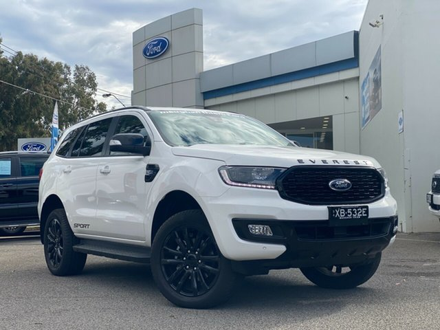 Demo Ford Everest UA II 2021.25MY Sport Port Adelaide, 2020 Ford Everest UA II 2021.25MY Sport Arctic White 6 Speed Sports Automatic SUV
