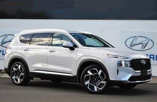 2021 Hyundai Santa Fe Tm.v3 MY21 Elite CRDi (AWD) Glacier White 8 Speed Auto Dual Clutch Wagon