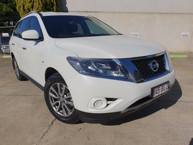 Used Nissan Pathfinder R52 MY15 ST X-tronic 2WD Toowoomba, 2015 Nissan Pathfinder R52 MY15 ST X-tronic 2WD White 1 Speed Constant Variable Wagon