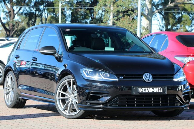 Pre-Owned Volkswagen Golf 7.5 MY18 R DSG 4MOTION Wolfsburg Edition Warwick Farm, 2017 Volkswagen Golf 7.5 MY18 R DSG 4MOTION Wolfsburg Edition Black 7 Speed