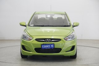 2012 Hyundai Accent RB Active Green 4 Speed Sports Automatic Sedan.
