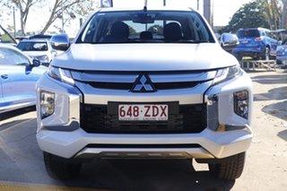 2018 Mitsubishi Triton MR MY19 GLS Double Cab White 6 Speed Sports Automatic Utility.
